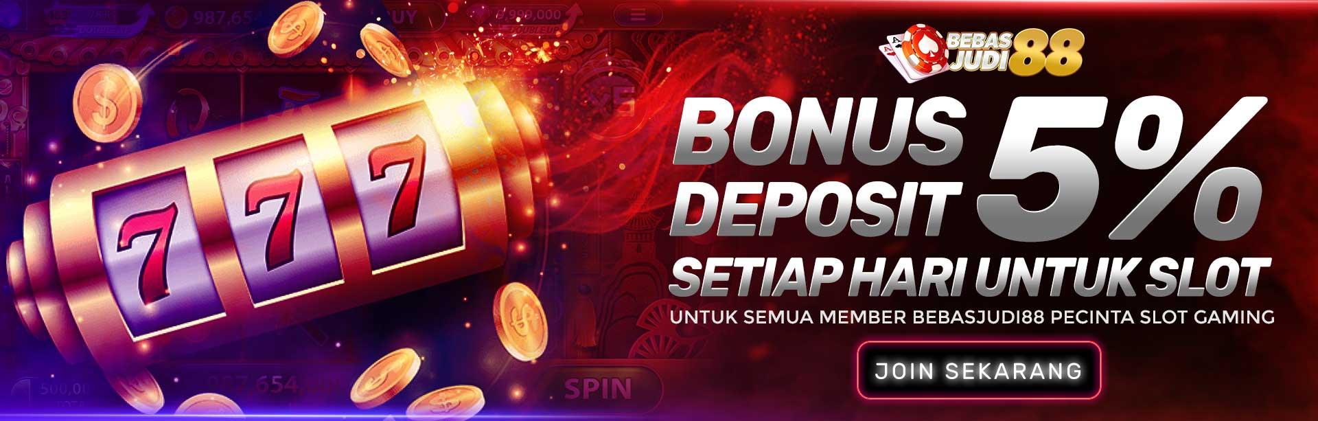 Bonus Deposit Harian 5% Slot